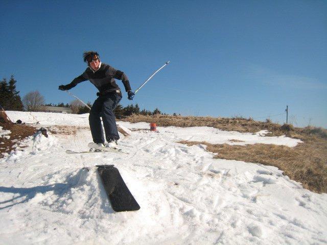 Jibbing snowboards