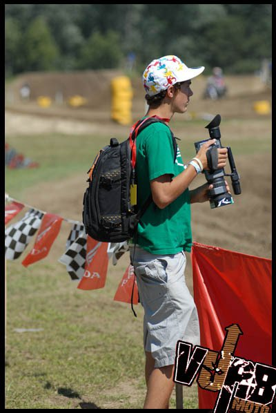 Me filming at winchester regionals( motocross)
