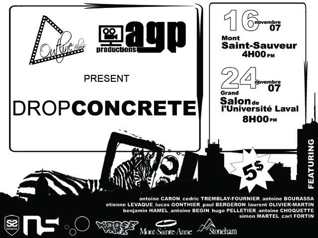 Drop concrete