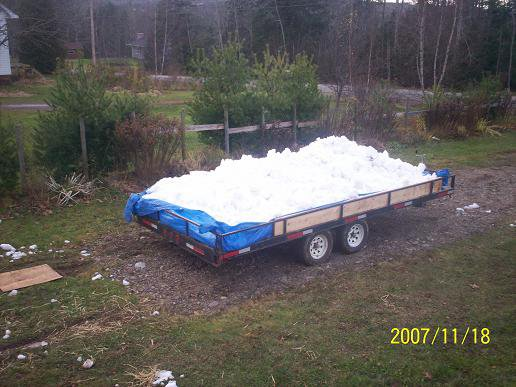 Trailer of snow