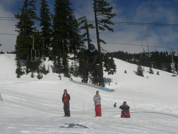 Snowboarding comp