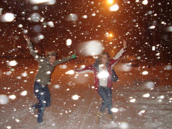 I love snow. haha