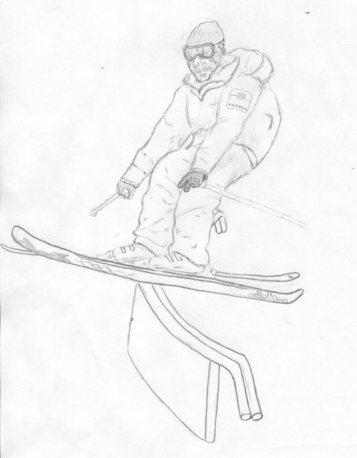 Steeze on the c rail-sketch