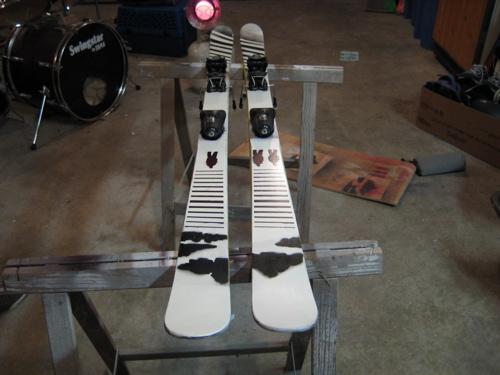Painted skis again