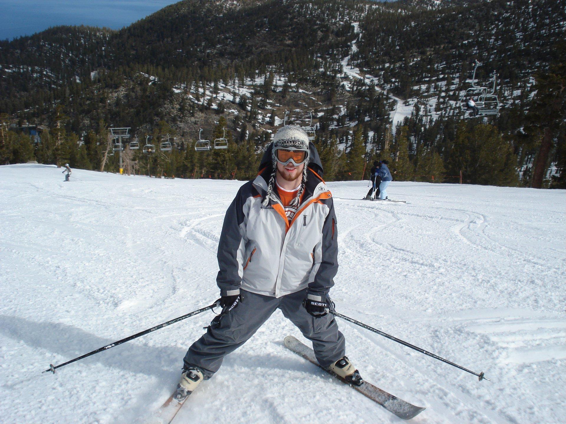 I can ski backwards!!!