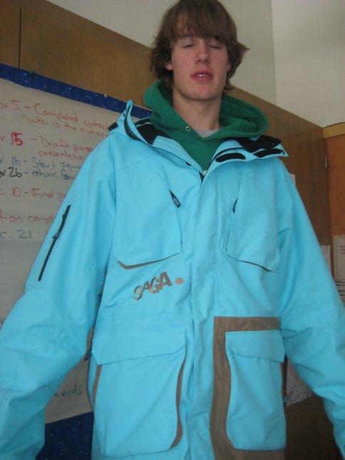 My new jacket i look half retarted