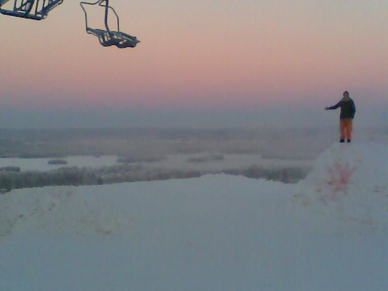 First jump of the season