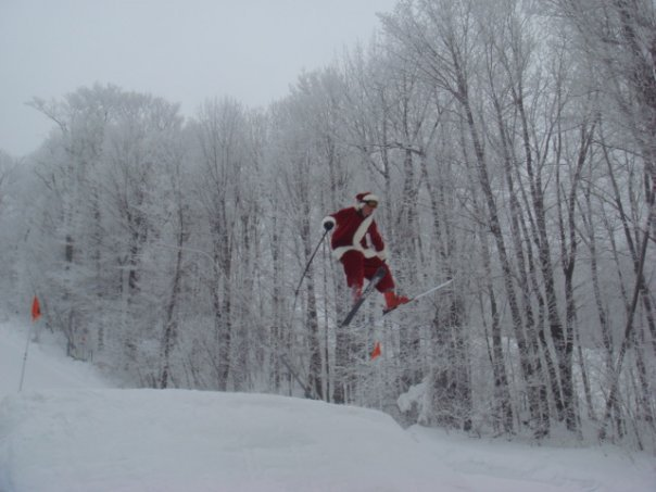 Santa sleighing