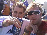 Lee and I getting Drunk on Ripcurl's  account Mick fannings World title party