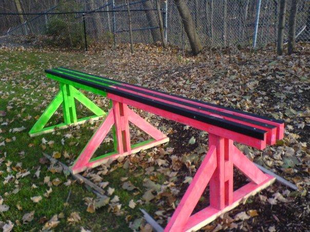 One of my backyard rails