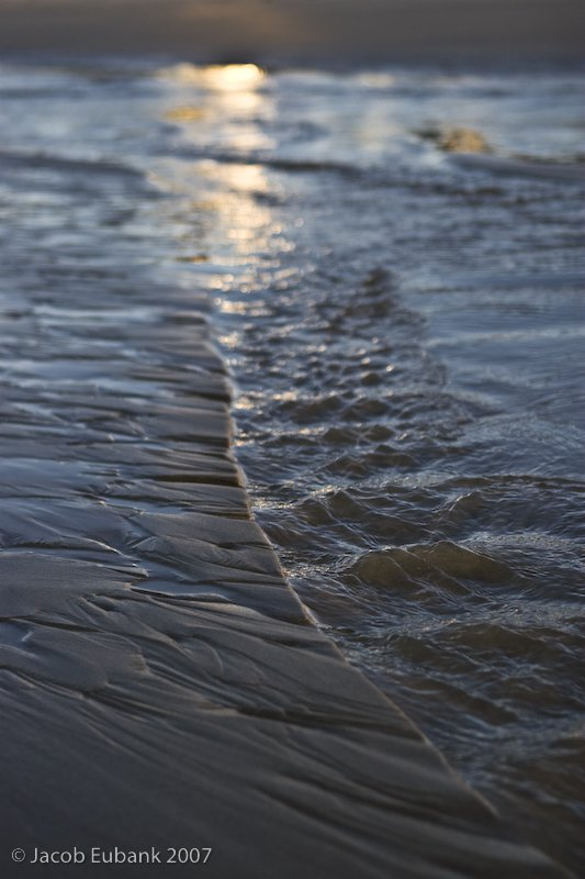 Water on the beach
