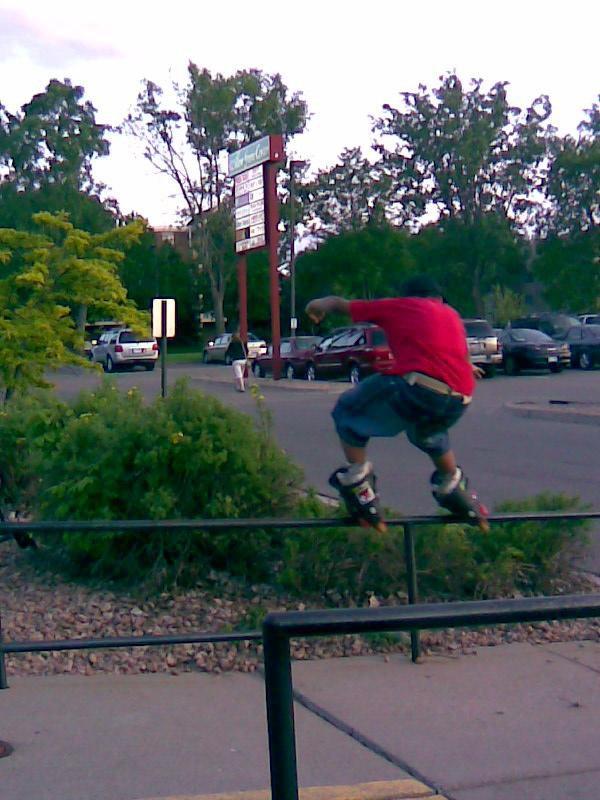 Me rollerblading