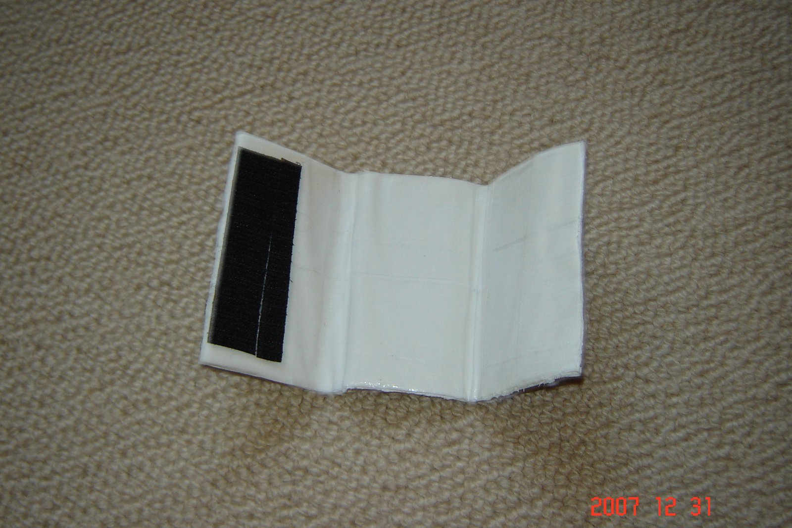 Duct tape 3 part wallet inside