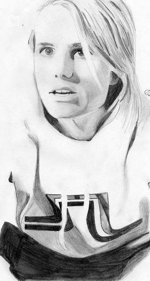 Drawing of Jon Olsson.