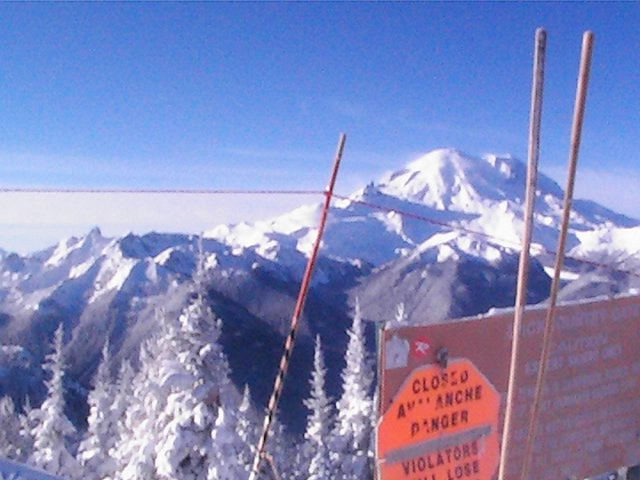 Mt. rainier from crystal mtn southback gate