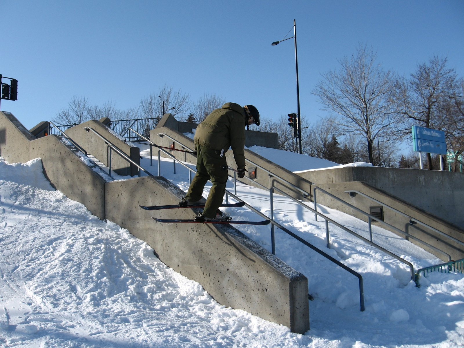 Jibbing at the Olympic Stadium in Montreal - 1 of 4