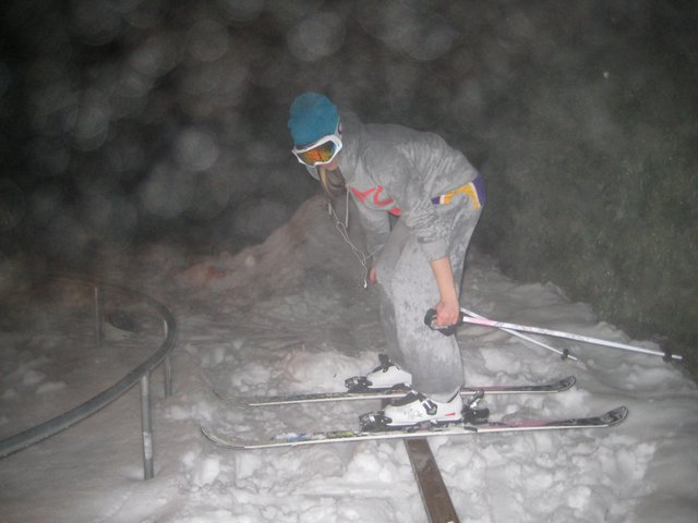 SKIING IN THE RAIN