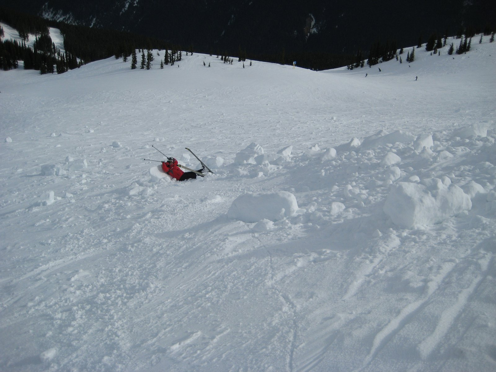 My dad in an avalanche