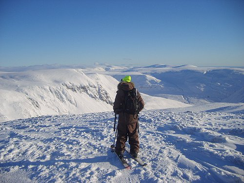 Glenshee BC Trip 12/1/08 (J.P Checking Out Some New Lines)