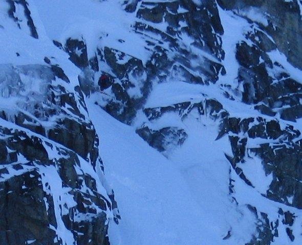 Nice drop in the blackcomb glacier