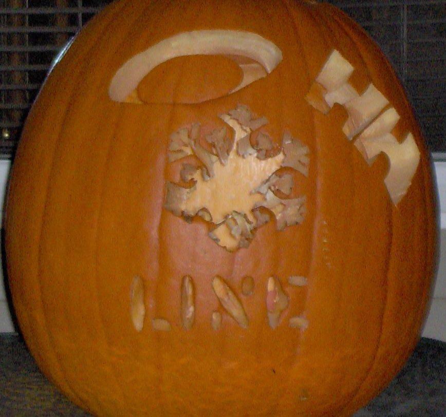 My pumpkin with logos