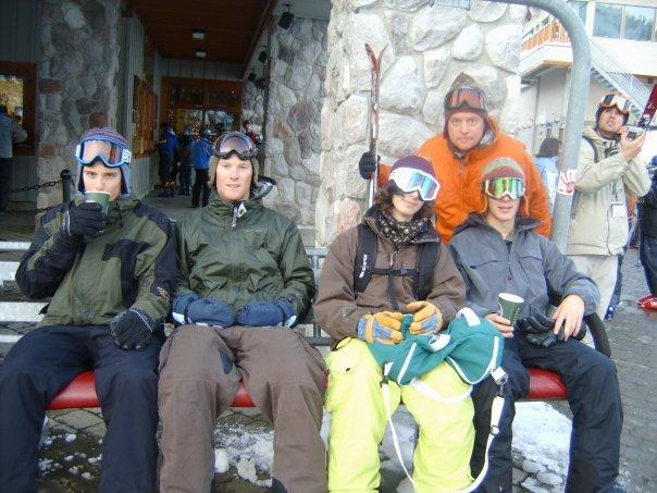 Post skiing free hot choc