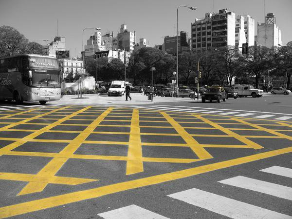 Intersection in Buenos Aires.