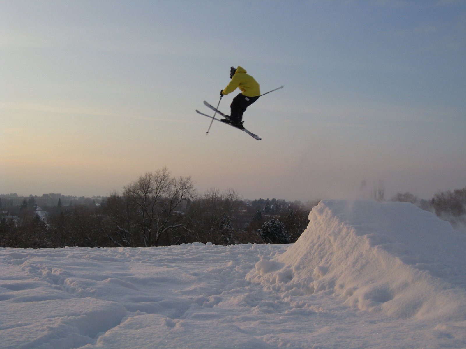 Eh jump made from snow