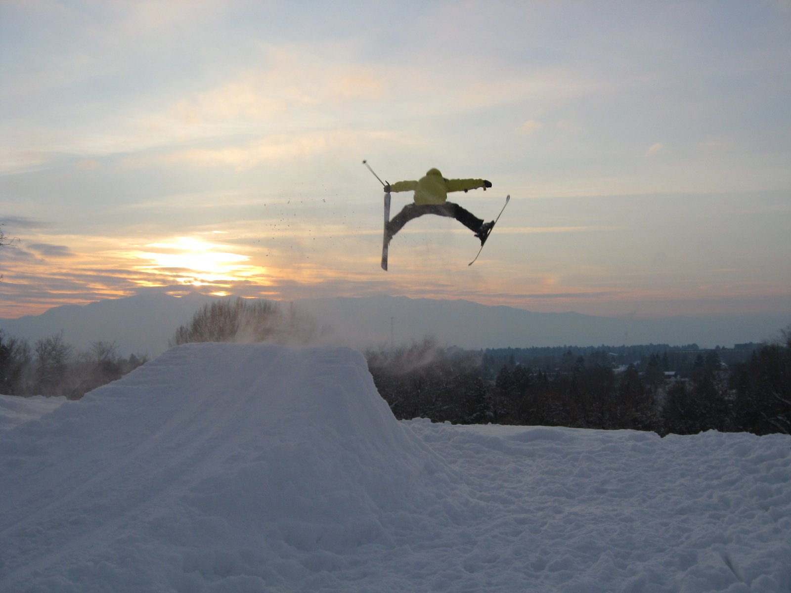 Another classic jump made from snow