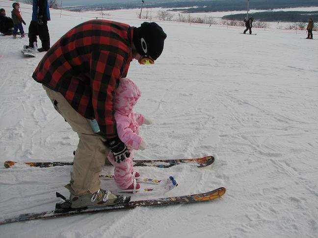 Summer's First Time Skiing