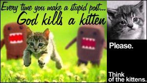 Think of the kittens