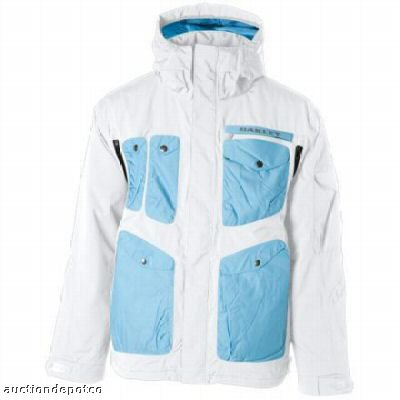 White/Blue Oakley Jacket