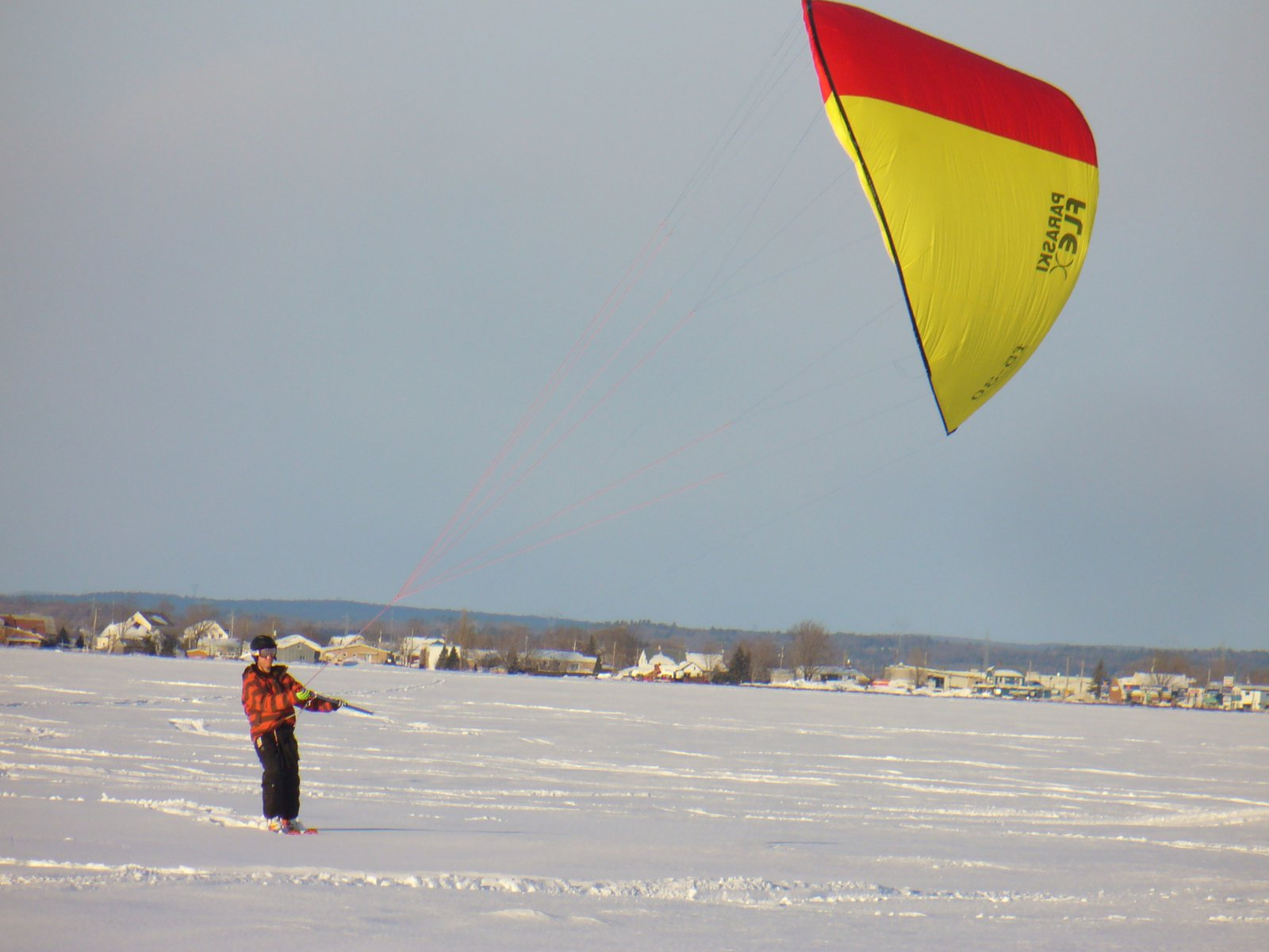 Kite skiing 3