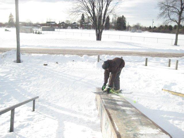 Down box at skate park