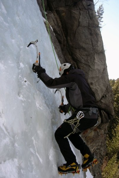 Ice Climbing in Boulder Canyon 1/26/08