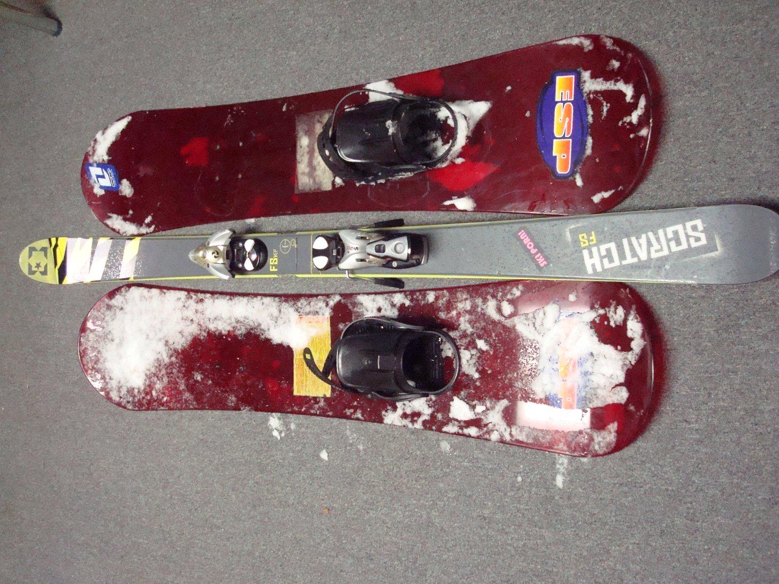New pow skis, haha