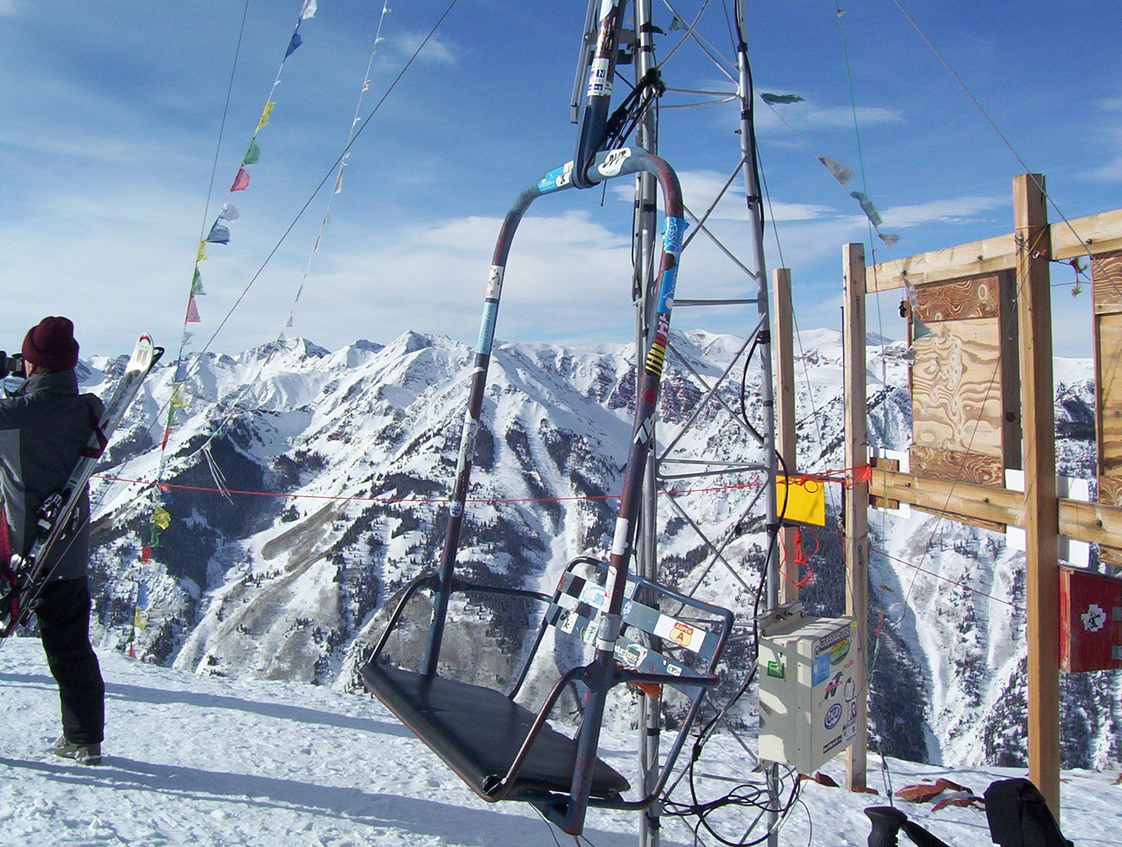 Chairlift at the top