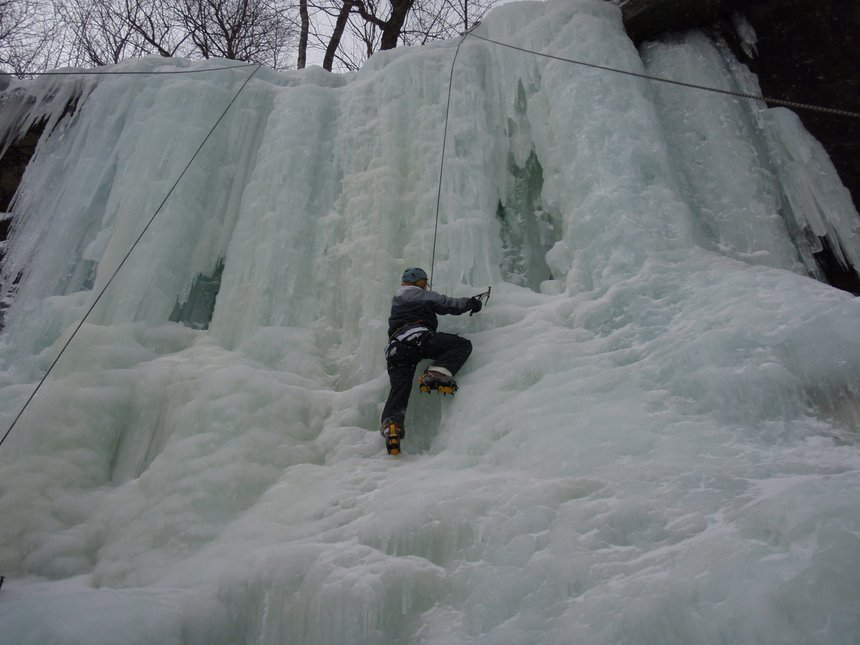 Iceee climbing is intense like camping.