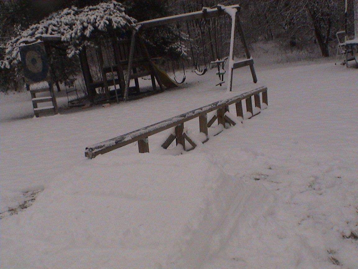Upgraded backyard rail