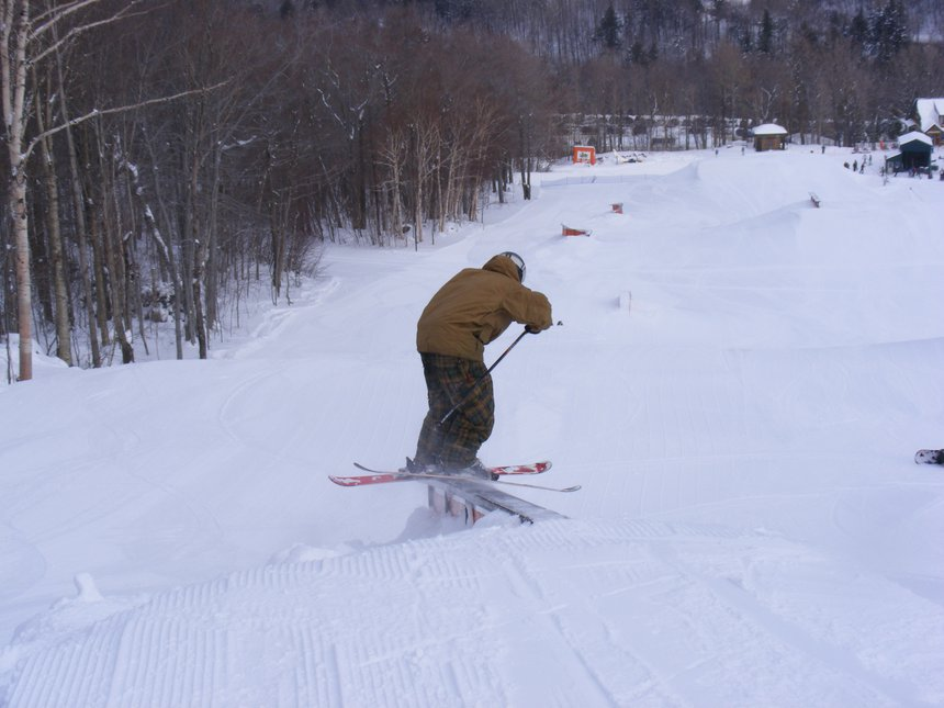 Sweet rail slide!