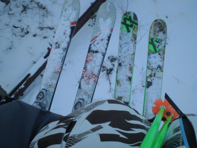 My skis r purtty