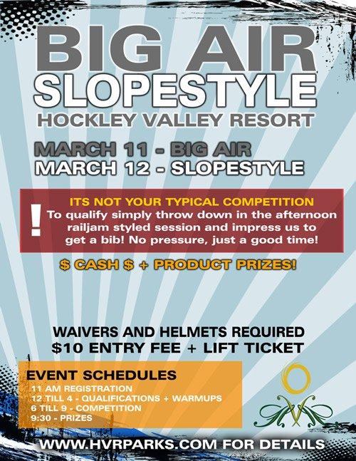 Hockley Valley Big Air   Slopestyle