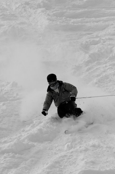 Just a nice shot of me skiing in some nice fresh snow ;D