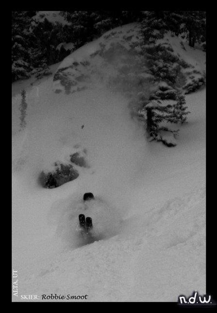 Smoot eating some pow