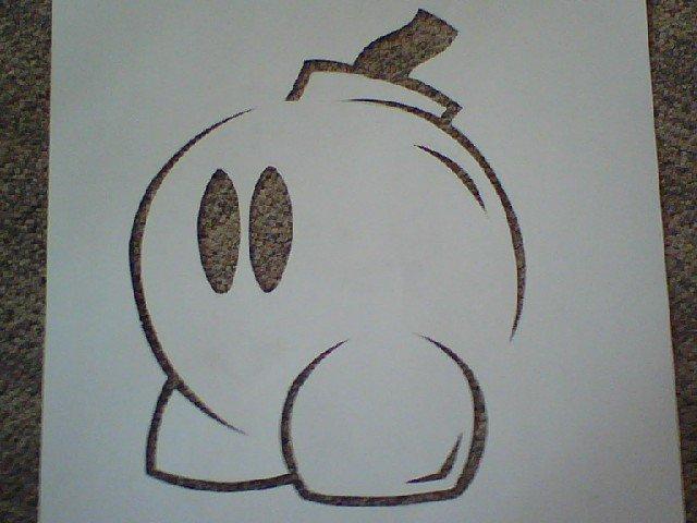 Bob-omb stencil