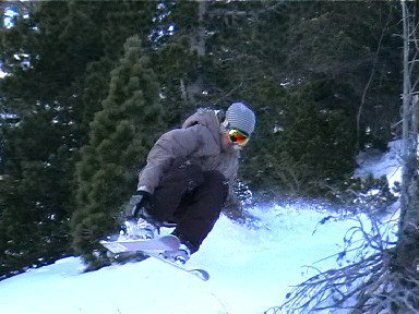 Hand drag on a little cliff