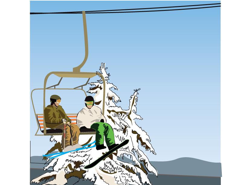 Chairlift illustration