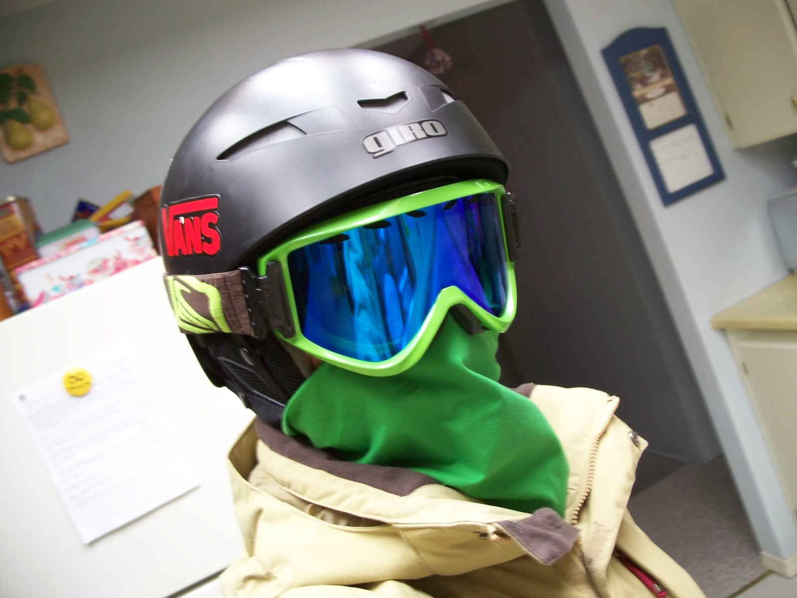 Me all geared up