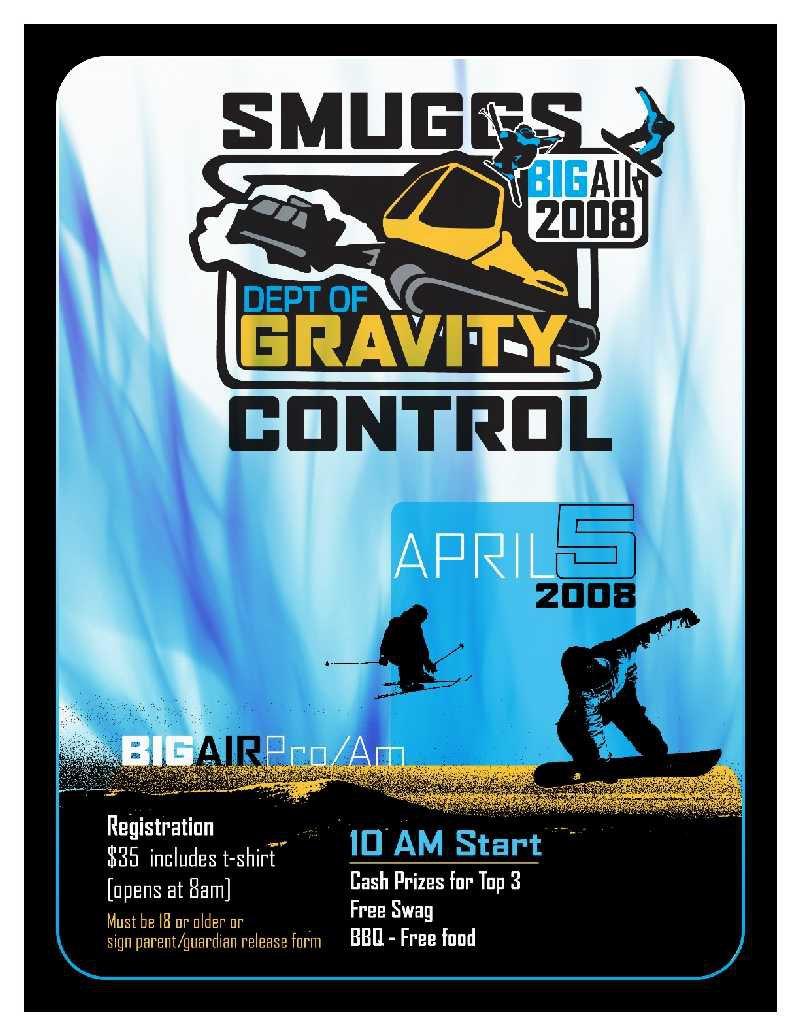 Smuggs Comp - April 5th GO!