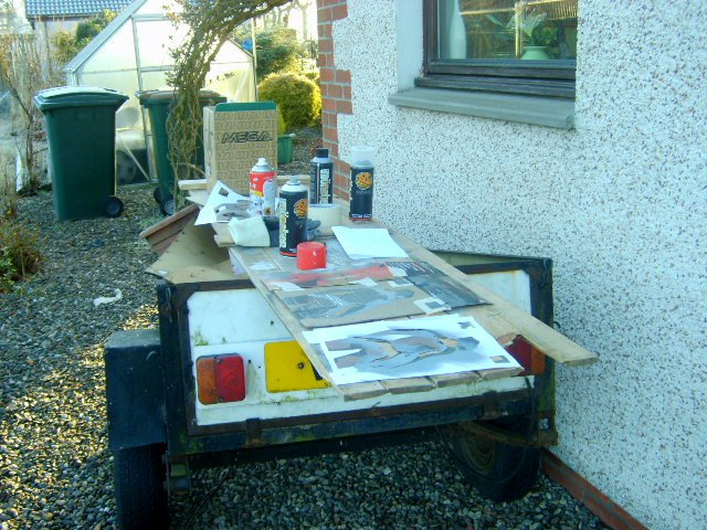 Early Morning Painting Outside